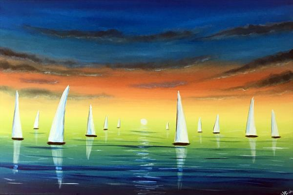 Sailing In The Sunset by Aisha Haider