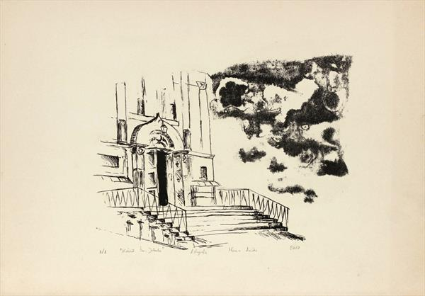 Stairway to Heaven  - original lithograph by M K Anisko