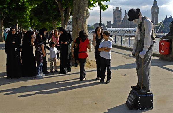 Chaplin by the Thames by Nigel Kendall
