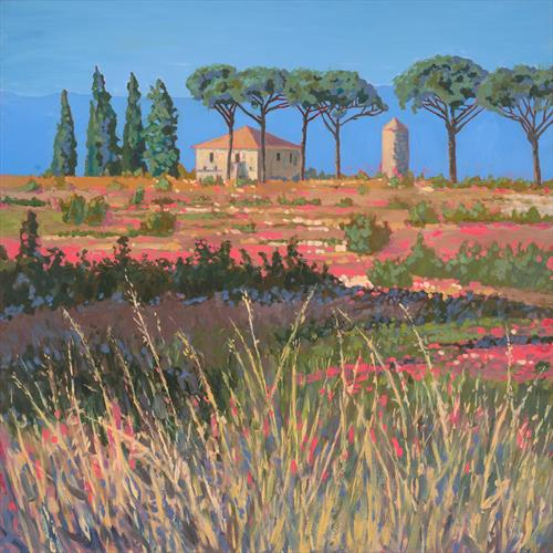 Hot House, Umbria (Original artwork) by Tracey Pacitti