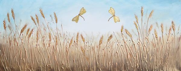 Twin Dragonflies - On display with Artgallery at Malvern Theatres by Amanda Dagg