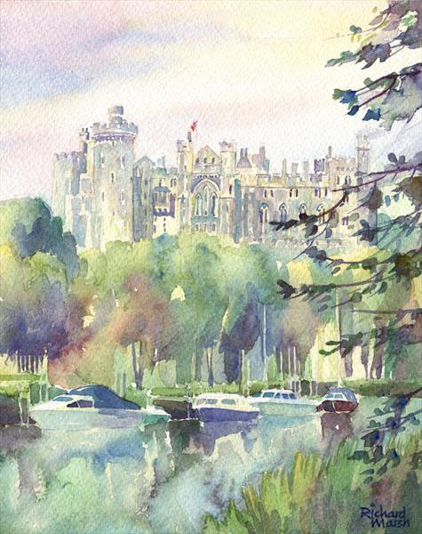 Along the River Arun Towards Arundel Castle by Richard Marsh