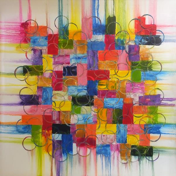 Bright And Breezy Display (Large Square) by Hester Coetzee