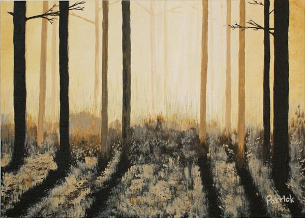 Misty Woodland Dawn by Patrick Skelton