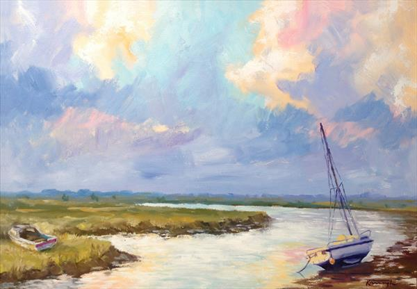Boats at Blakeney by Peter Kavanagh