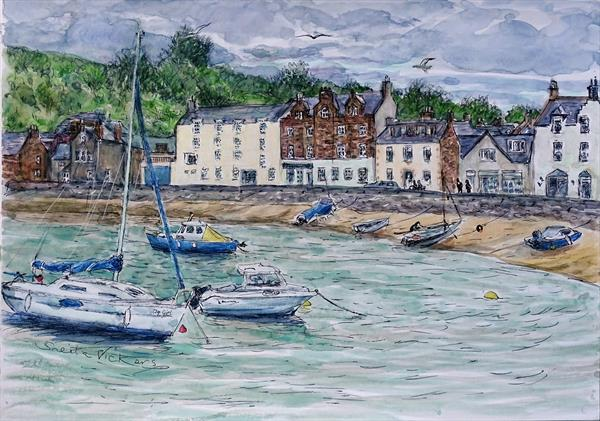 Stonehaven Harbour by Sheila Vickers