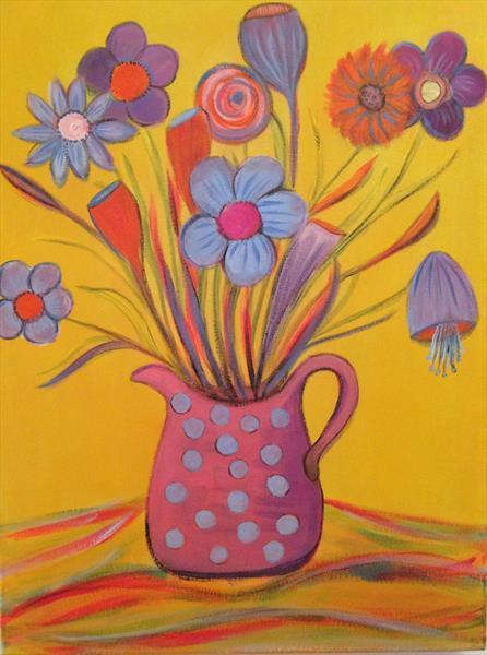 Abstract Flowers by Rosie Cunningham