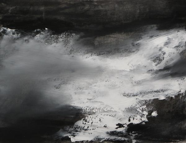 Abstraction in Monochrome study 19 by Wendy Hyde