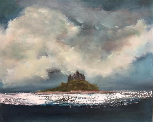 St Michaels Mount Cornwall Seascape  by Maxine Martin