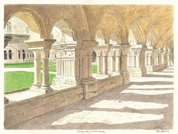 Cloister at Fontenay Abbey by Steve Everest