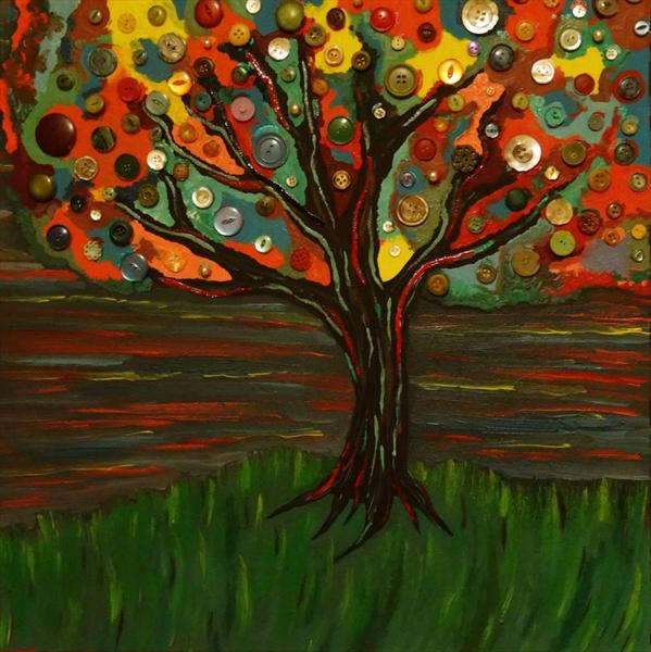 Button Tree by Josephine  Armitage
