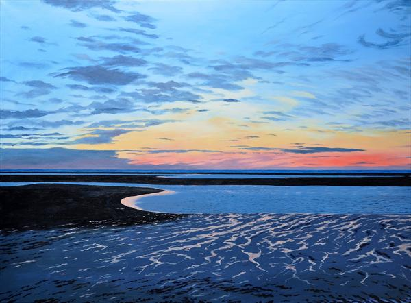Overy Beach Sunset by Andrew Dibben