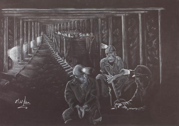 Welsh miners break time by Mike Isaac