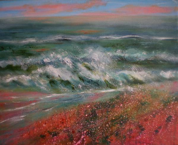 Crashing waves. by Jill Lloyd