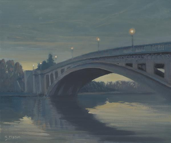 Reading Bridge at Night by Richard Picton