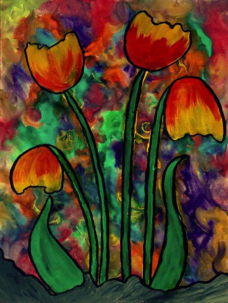 Viking Tulips by George Hunter