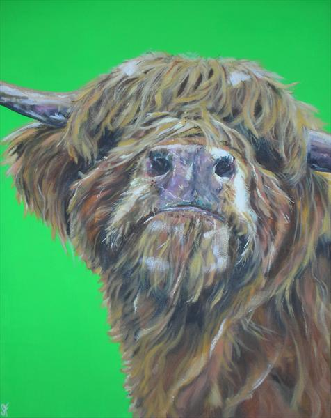 Och Aye the Moo ~ Limited Edition Print of 150 by Sam Fenner