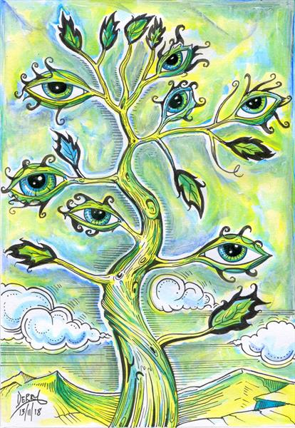 7 EYE TREE IV by Spencer   Derry