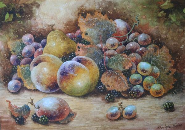 Still Life of Worcestershire Fruit by Christopher Hughes