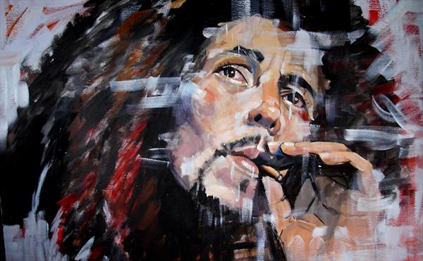 Bob Marley by Dawn Ogden-white