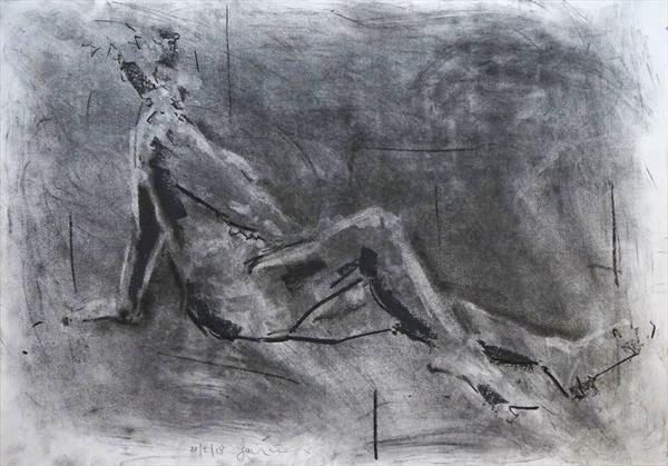 Female Nude Study - Life Drawing No 278 by Ian Mckay