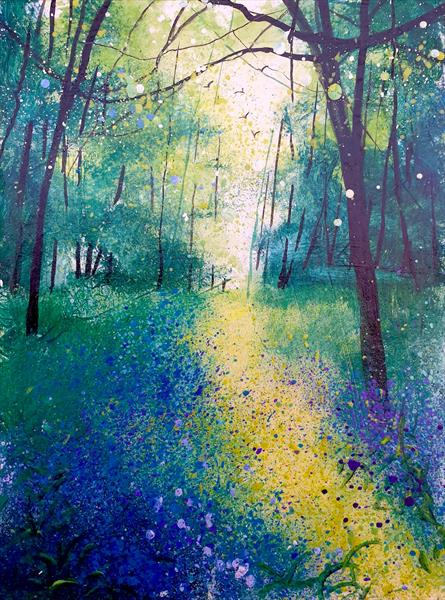 Along the Bluebell Pathway by Teresa Tanner