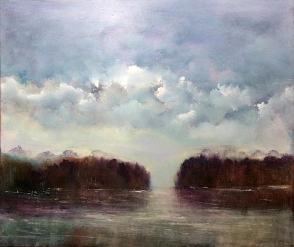 Seascape ~ Going To The River To Pray  by Maxine Martin