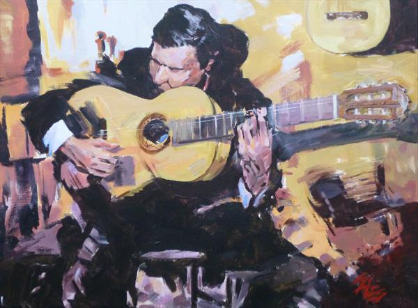 Guitarist #12 by David Sales