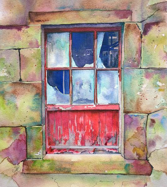 Old Farm Window by Tracy Butler