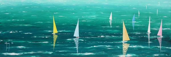 Sails at Cowes by Warren Green