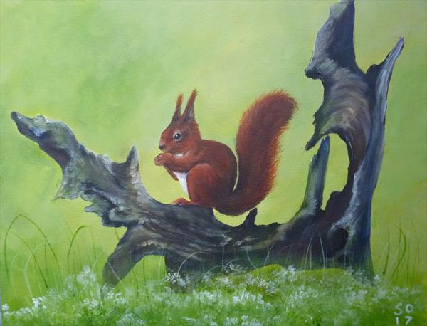 Mr Red Squirrel  by Super Cosmic
