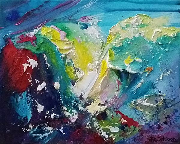 Cumbria Abstract - 'Light and Might' by Andrew Alan Johnson