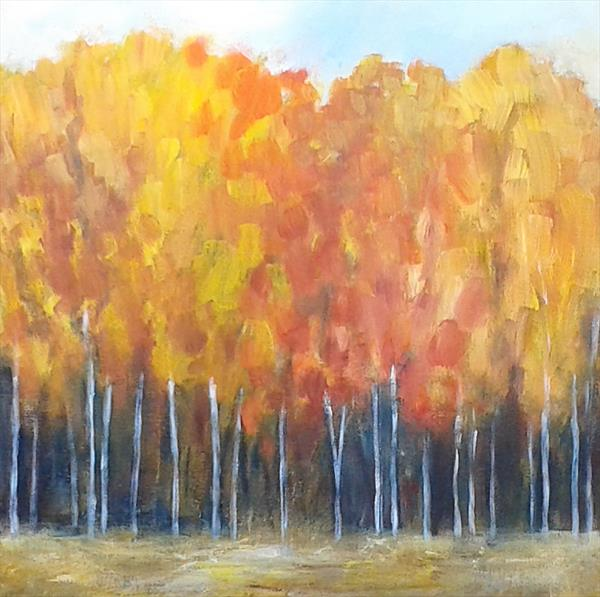 Autumn Trees IV by Jan Rippingham