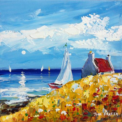Sailing, Iona.  Scotland.  (Scottish art)