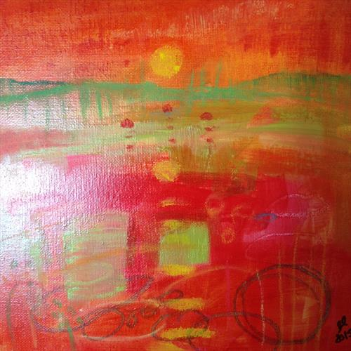 Red buoys bobbing by Gwen Fleming