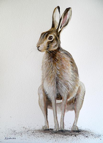 Sitting Hare by Sarah Featherstone