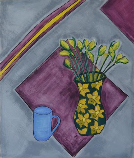 Daffodils: waiting to open by Melissa Pentney