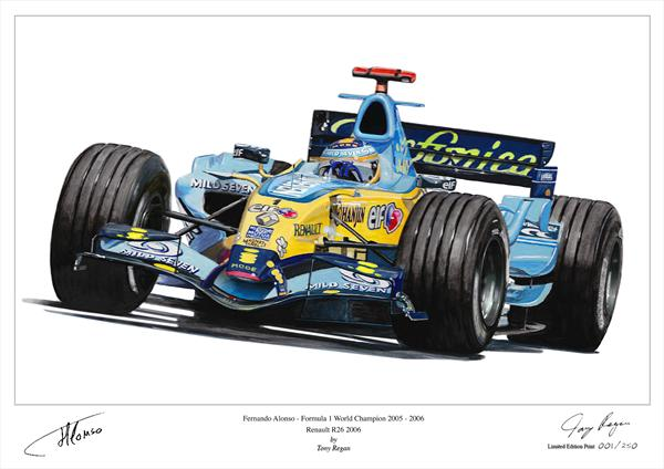 Fernando Alonso F1 World Champion 2005 - 2006 by Tony Regan
