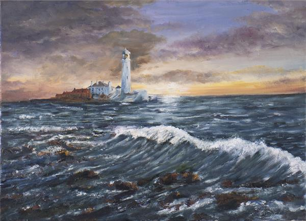 A Light in the Darkness - St Mary's Lighthouse by Robert Permain