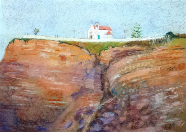 Church on the cliff at Zambujeira do Mar, Portugal by Michael Parkinson