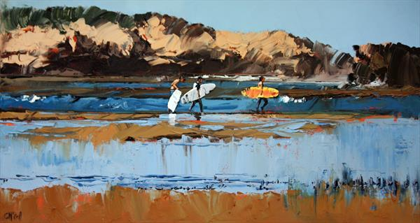 Three Surfers by Claire McCall
