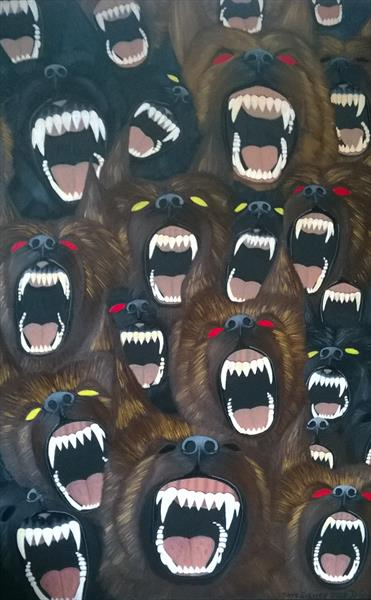 DOG HEADS FROM HELL by DAVID SISMEY