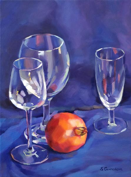 Still Life in Blue by Svetlana Gavrisheva