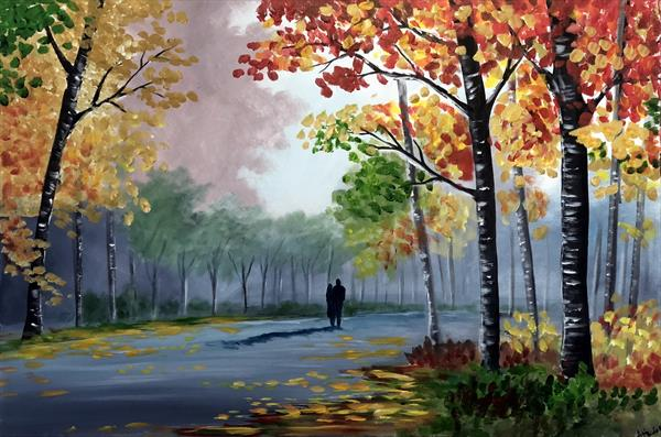 Our Colourful Autumn Walk by Aisha Haider