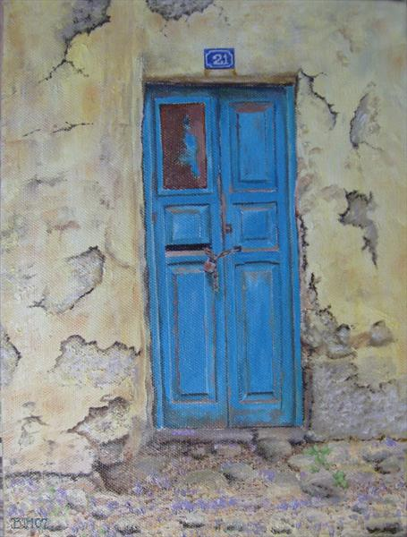 Blue French Door by Ben Hardman