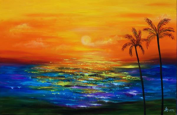 Seascape painting, ocean art by Florentina(anca)  popescu