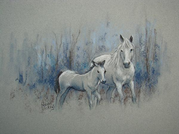 White Mare and Foal