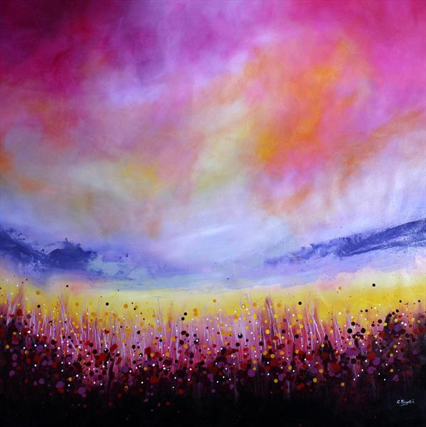 Delights - Large original abstract landscape by Cecilia Frigati