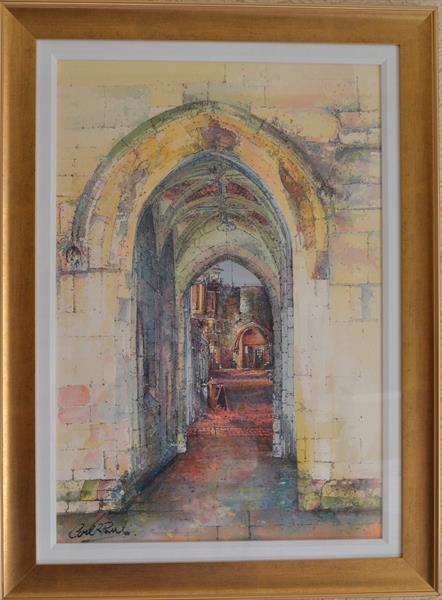 The Arch, A view into Castle Square, Lincoln by Carl Paul