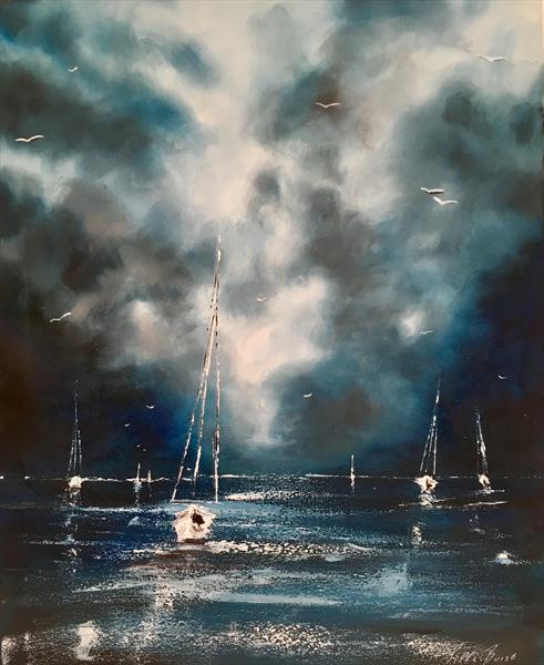 Sailing in stormy skies  by Pippa Buist